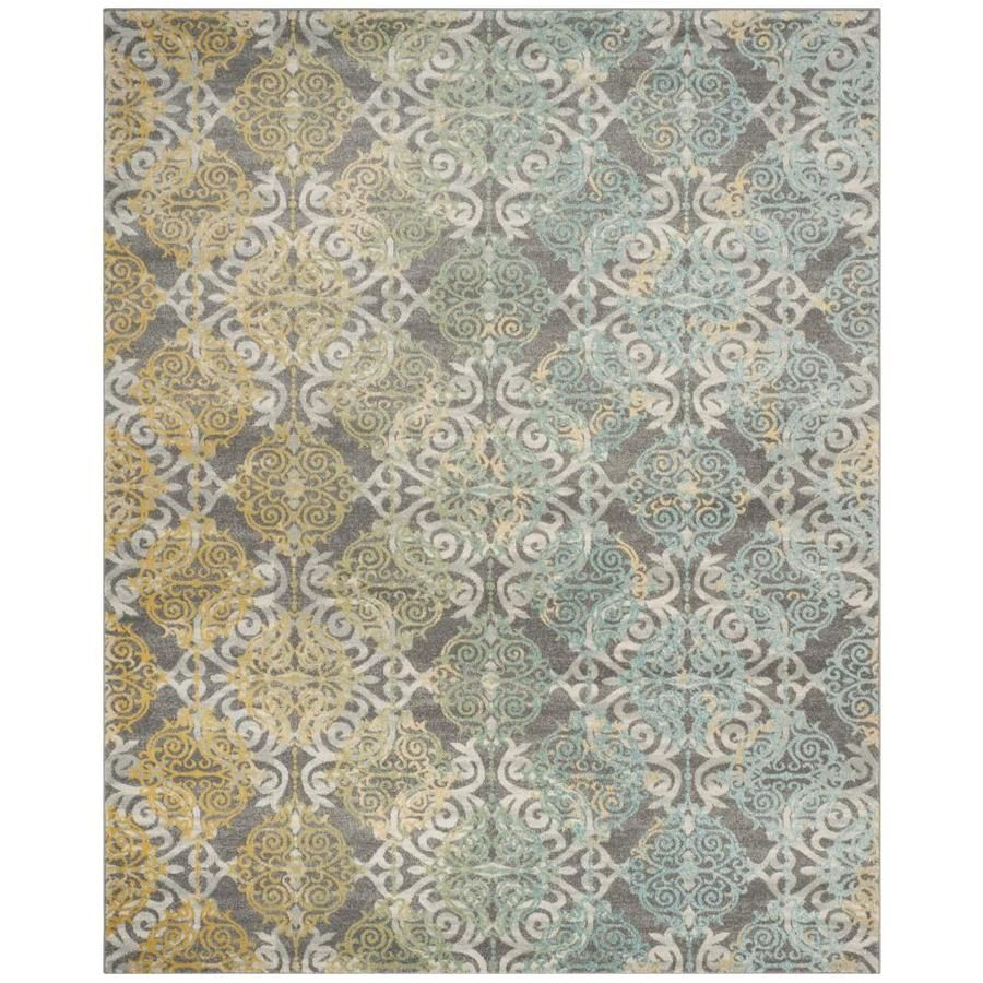 Safavieh Evoke Rigby Gray Multi Rectangular Indoor Machine Made Vintage Area Rug Common 8 X 10 Actual 8 Ft W X In 2020 Vintage Area Rugs Area Rugs Yellow Area Rugs