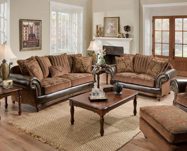 Corinthian 7503 Drama Tobacco Furniture Room Furniture Design Dream Furniture #schewels #living #room #furniture
