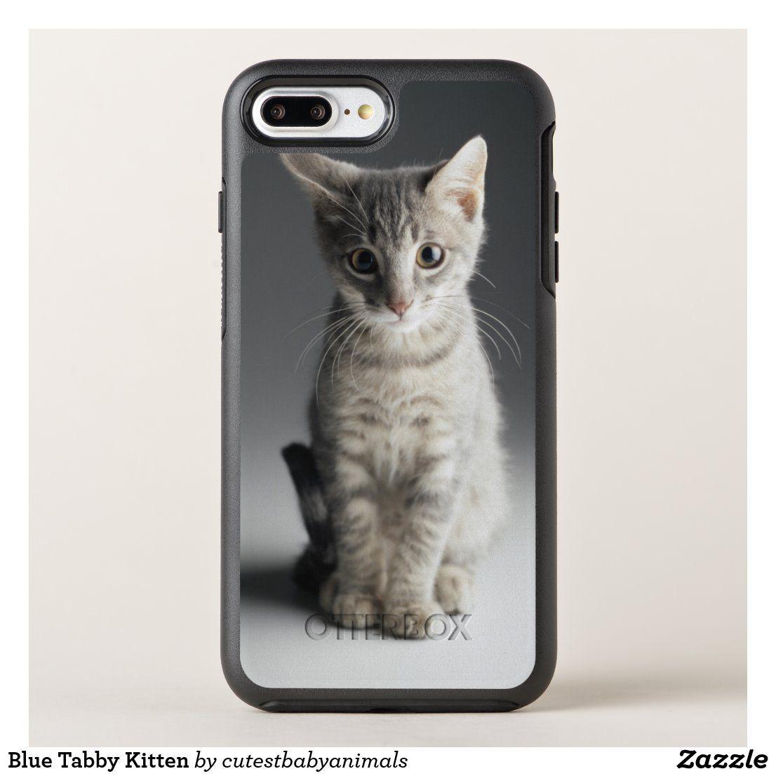Blaue Tabby Kätzchen OtterBox iPhone Hülle | Zazzle   – Phone Cases