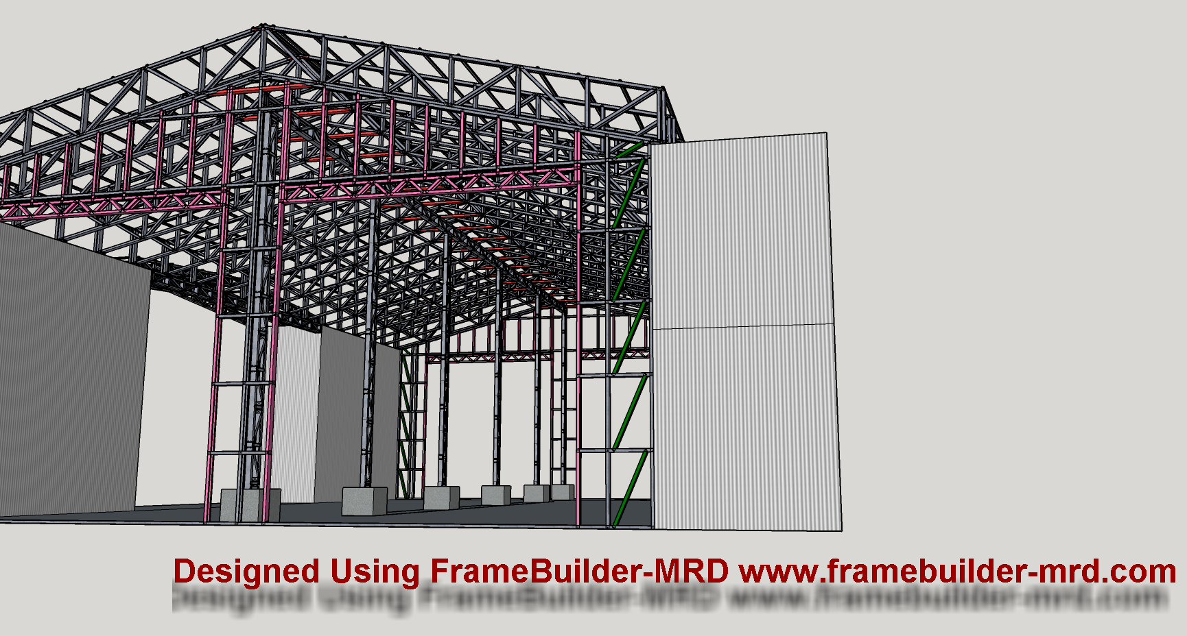 Light Steel Framing for Container Warehouse. Onsite storage ...
