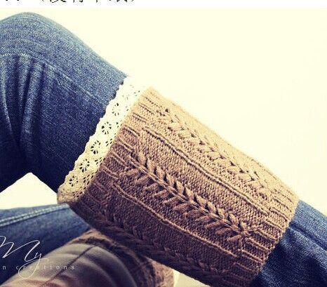 Warm Ribbed Boot Cuffs Knitting Pattern Red Heart Dd Pinterest