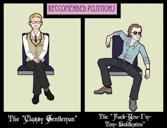 """I call it the """"talk like a gentleman sit like a whore"""" position ;)"""