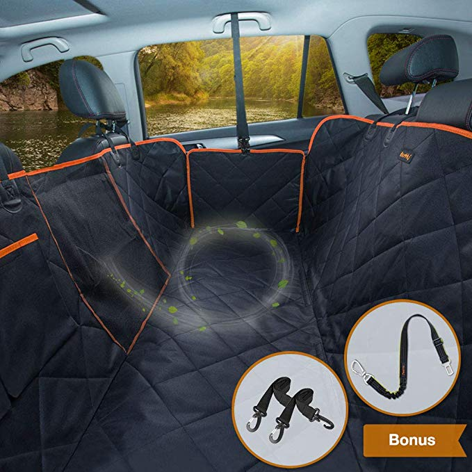 Amazon Com Ibuddy Dog Car Seat Covers For Back Seat Of Cars Trucks Suv Waterproof Dog Car Hammock With M Pet Car Seat Covers Pet Car Seat Dog Car Seat Cover
