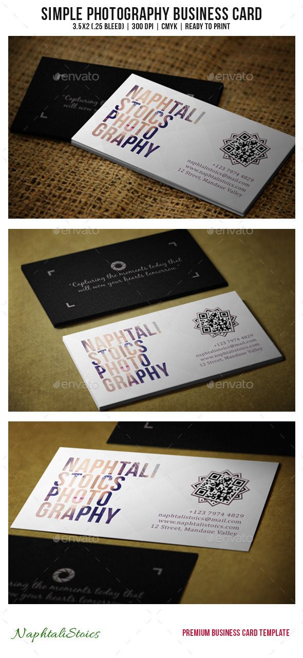 Simple photography business card pinterest photography business simple photography business card photoshop psd photographer white available here reheart Gallery