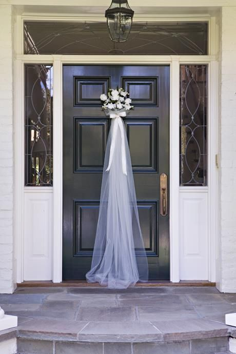 Photo of Wedding Shower Door Wreath
