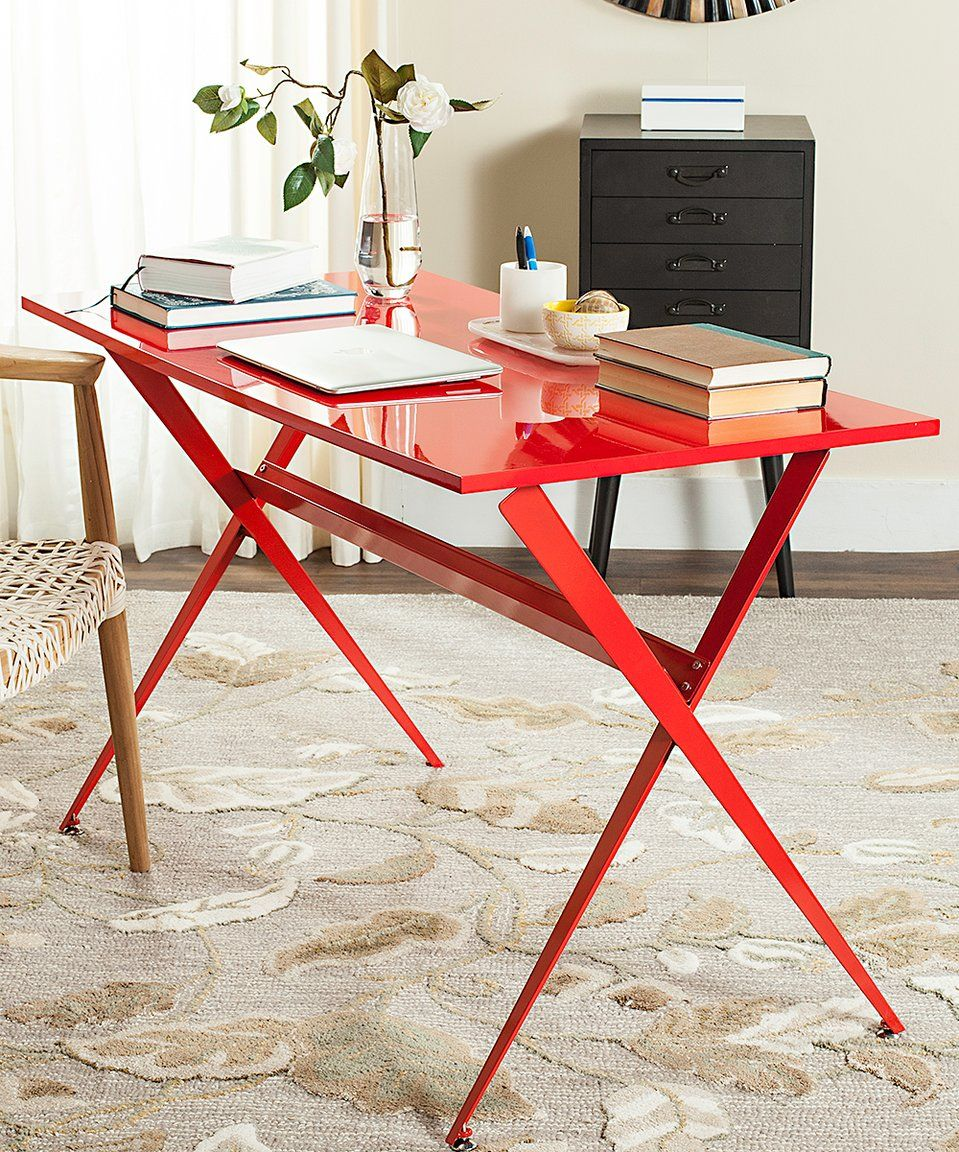 take a look at this red celestine desk today craft room ideas rh pinterest com au