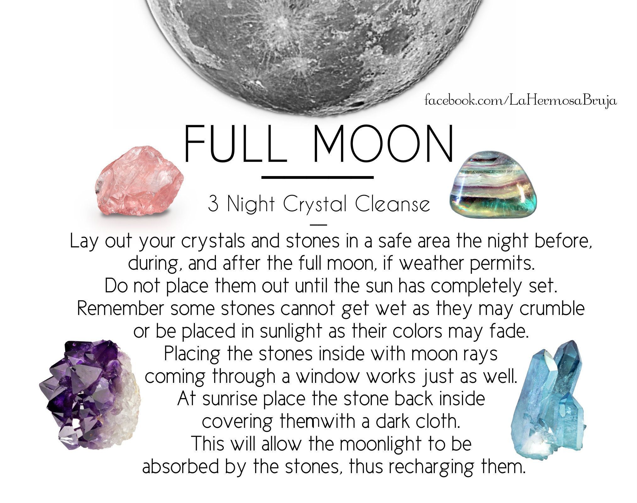 Full Moon Crystal Cleanse Cleansing crystals, Crystals