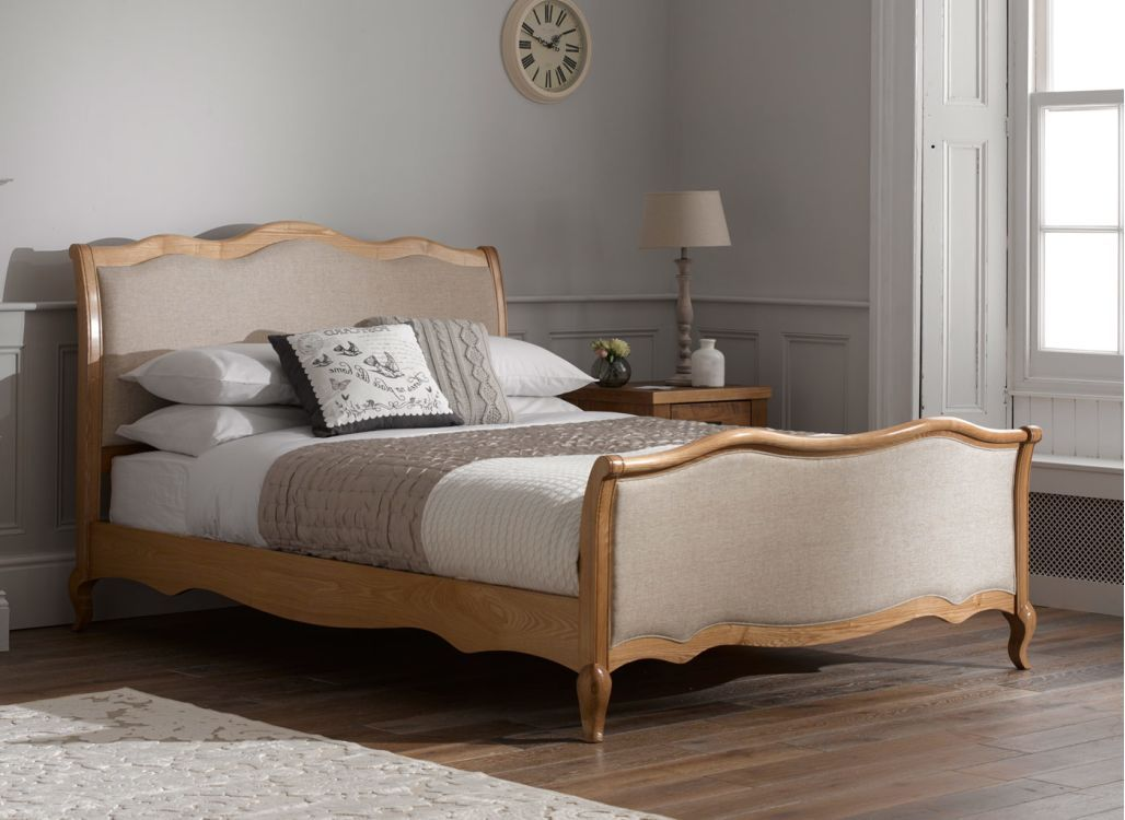 Regent Wooden and Fabric Upholstered Bed Frame