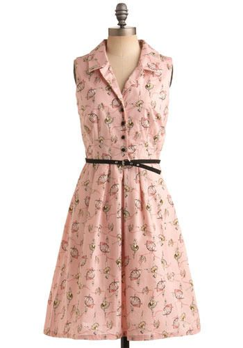 Ideal Leaps and Bounds Dress | Mod Retro Vintage Printed Dresses  MP75