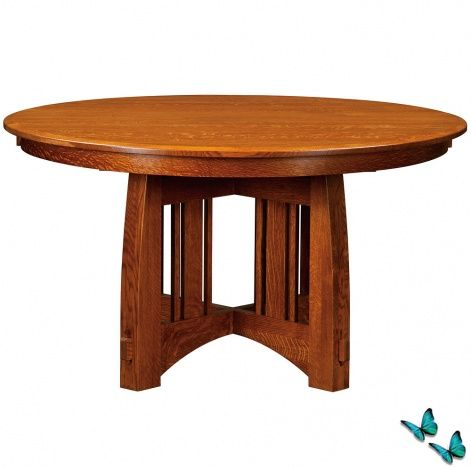 mackinaw round amish dining table in 2019 table dining table rh pinterest com