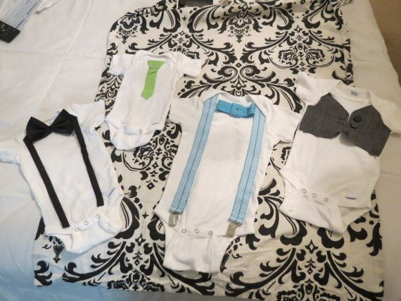 Great Onesies for your Perfect Little Gentleman by TillyKLace, $38.00