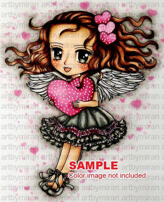 digital stamp sweet heart 254 digi stamp coloring page rh pinterest com