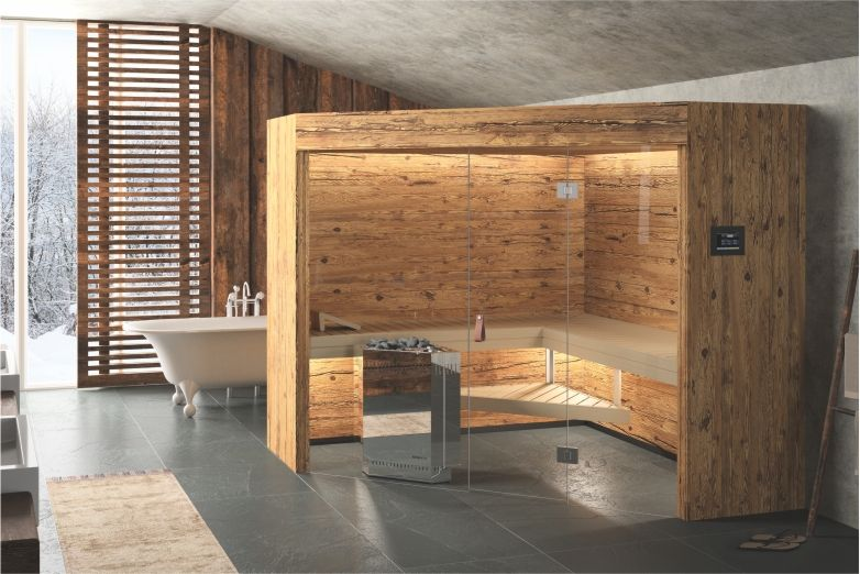 rustico sauna im chalet stil alpenchic altholz sauna design pinterest. Black Bedroom Furniture Sets. Home Design Ideas