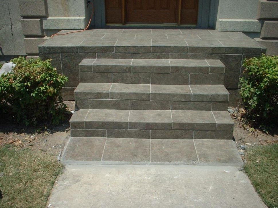 Exteriors Striking Front Concrete Stairs Design Ideas Presenting | Front Door Steps Designs | Simple Front Step | Single | Front Entryway | Decorative Entry Door | Garden