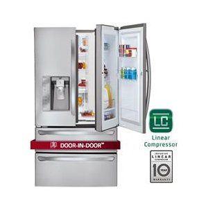 LG 30 Cu Ft Stainless Steel Bottom Freezer French Door-in-door plus drawer -- not counter depth