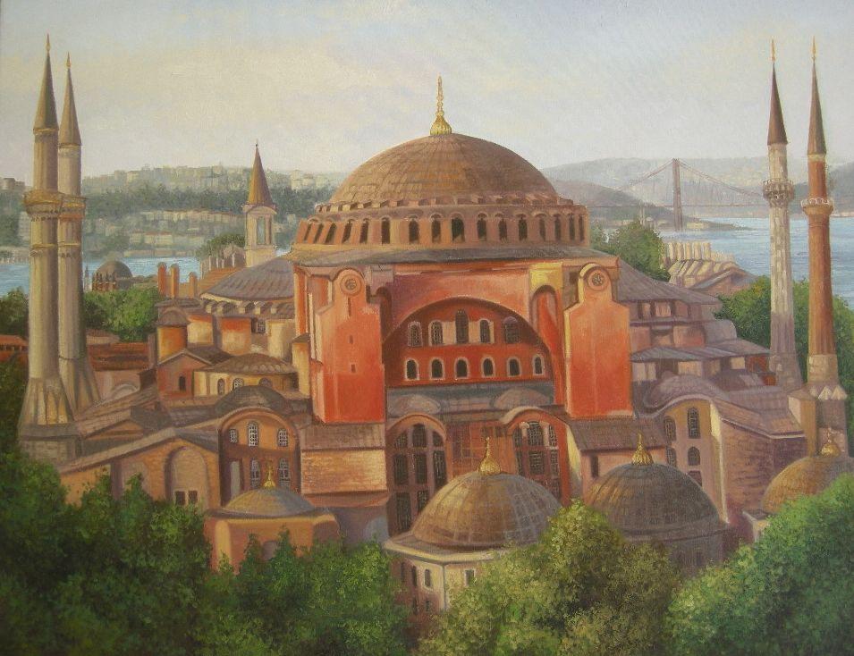 Ayasofya Munevver Eser Sari Istanbul Resimler Resim