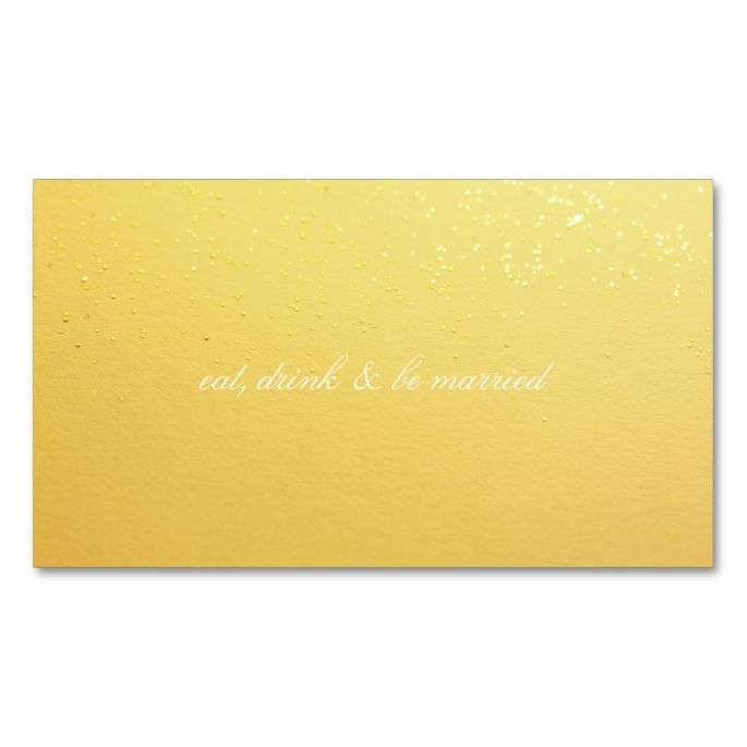 Gold Glitter Event Drink Cards Business Cards Pack Gold glitter - event card template