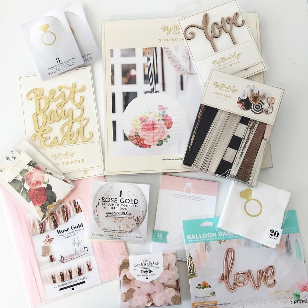 "164 Likes, 7 Comments - Holly Moeller (@mypapercrush) on Instagram: ""Bridal season is definitely here & we have some beautiful items to help you create a fabulous…"""
