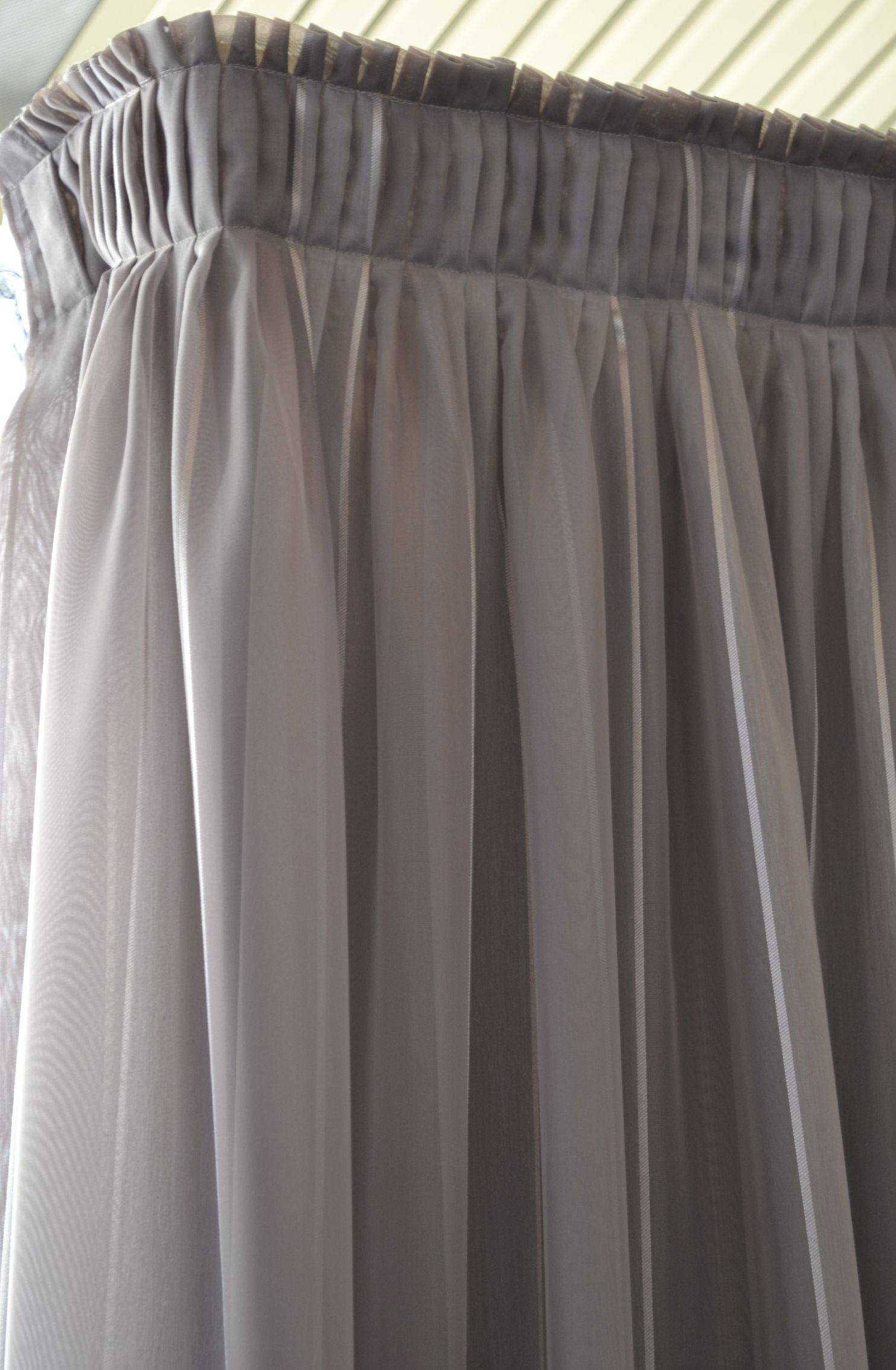Knife Pleat Sheer Curtain Draperies Pinterest Sheer