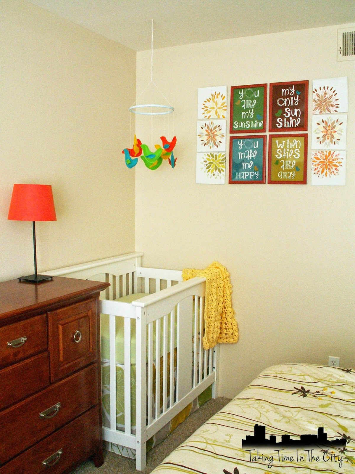 Nursery tour corner nursery in a master bedroom cute for Master bedroom with attached nursery