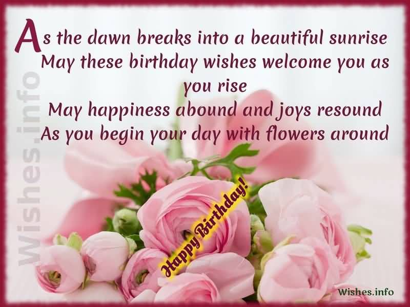 Awesome Flower Birthday Wishes For Cousin – Birthday Greetings for Cousins
