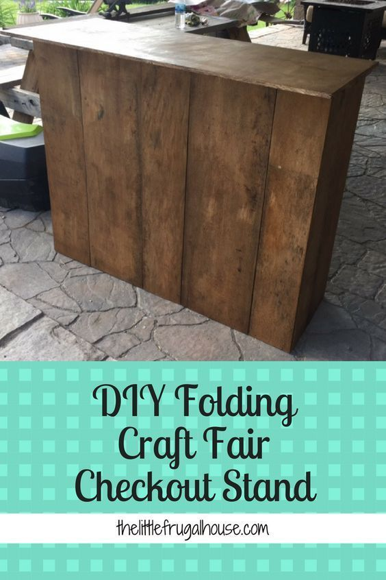DIY Folding Craft Fair Checkout Stand #craftfairs
