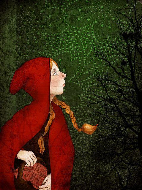 Pin Von La Motte By Monte Klamotte Auf Rotkappchen Illustration Poster Und Schone Sachen