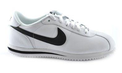 huge discount e7f80 98cdc Nike Cortez Basic Leather 06 Mens Walking Shoes WhiteBlackMetallic  Silver 316418-