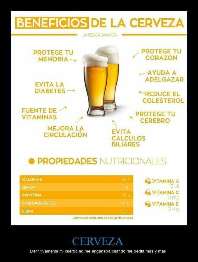 Beneficios De La Cerveza Comida Cerveza Beneficios Beneficios