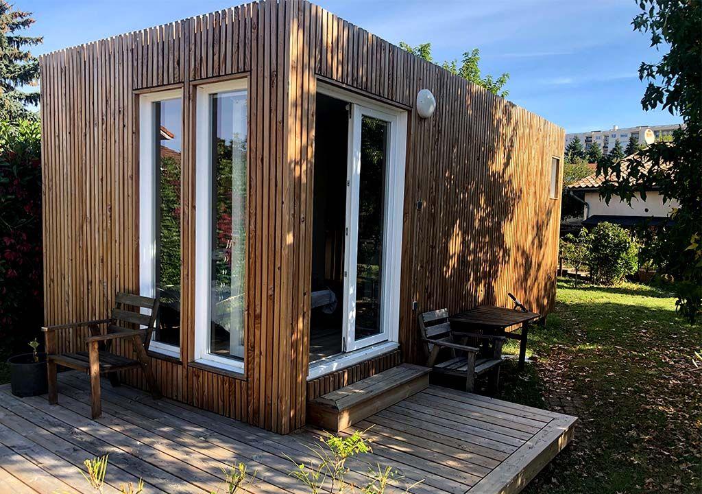 Studio De Jardin Greenkub De 20m2 Studio De Jardin Permis De Construire Bureau De Jardin