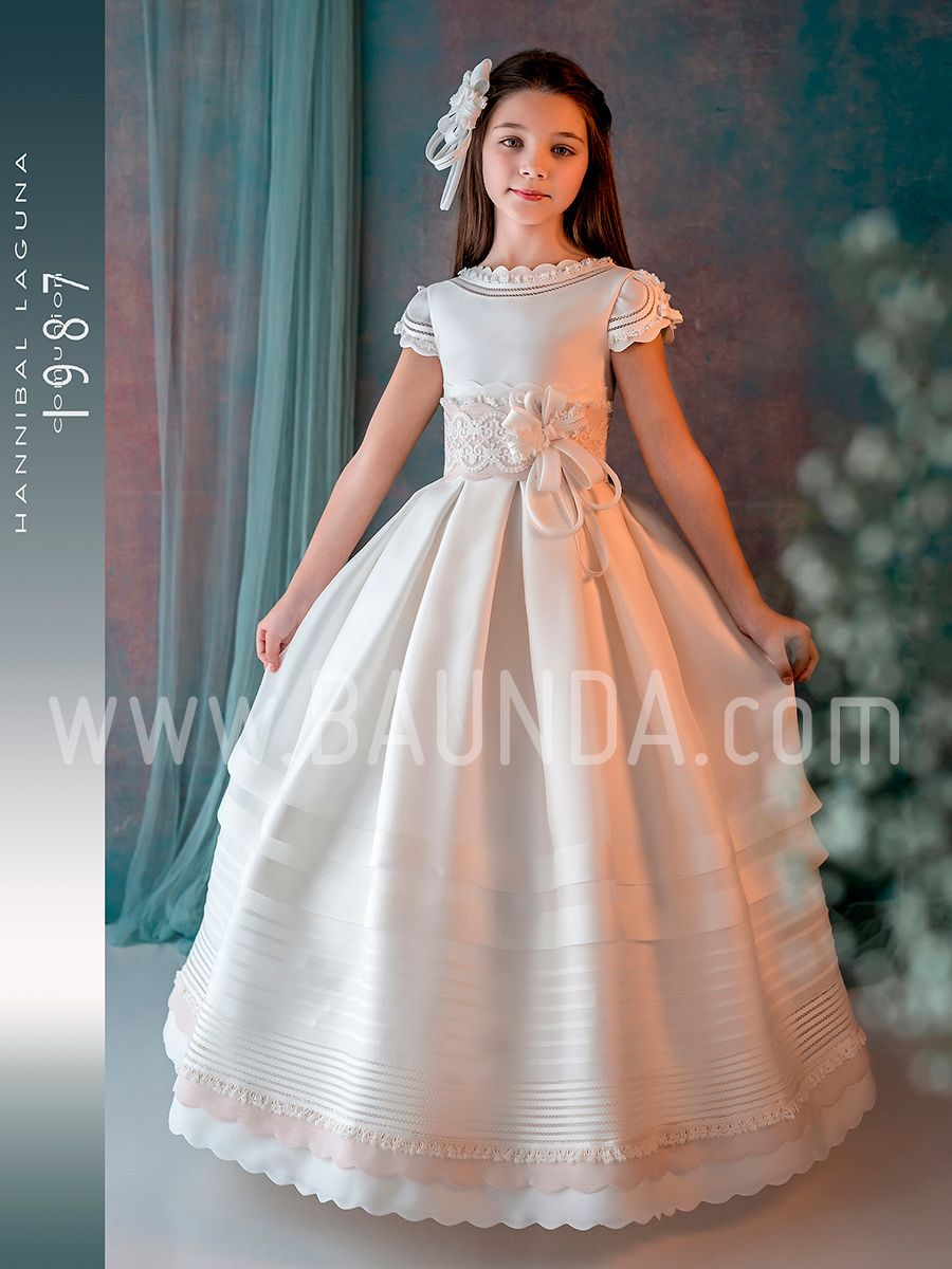 Vestido Comunión Seda 2019 Hannibal Laguna J307 Madrid Y Online Girls First Communion Dresses Girls Communion Dresses Kids Bridesmaid Dress