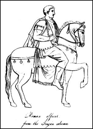 Picture Of Roman Officer From The Trojan Column Horseman