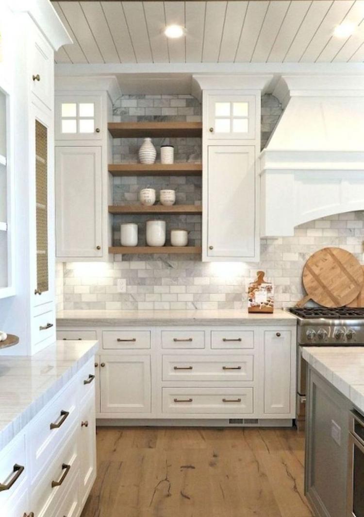 Modern Farmhouse Kitchen Cabinet Makeover Design Ideas Kitchen Cabinets Decor Rustic Farmhouse Kitchen Farmhouse Kitchen Backsplash
