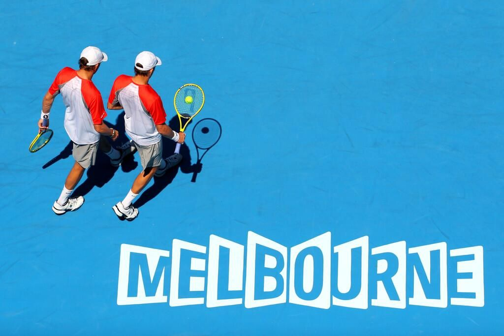 Bob & Mike Bryan at the Australian Open