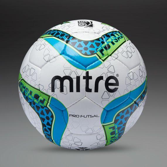 3bc0ae8b4e64e Mitre Pro Futsal Ball 32 Panel - White Green Cyan  PDSMostWanted ...