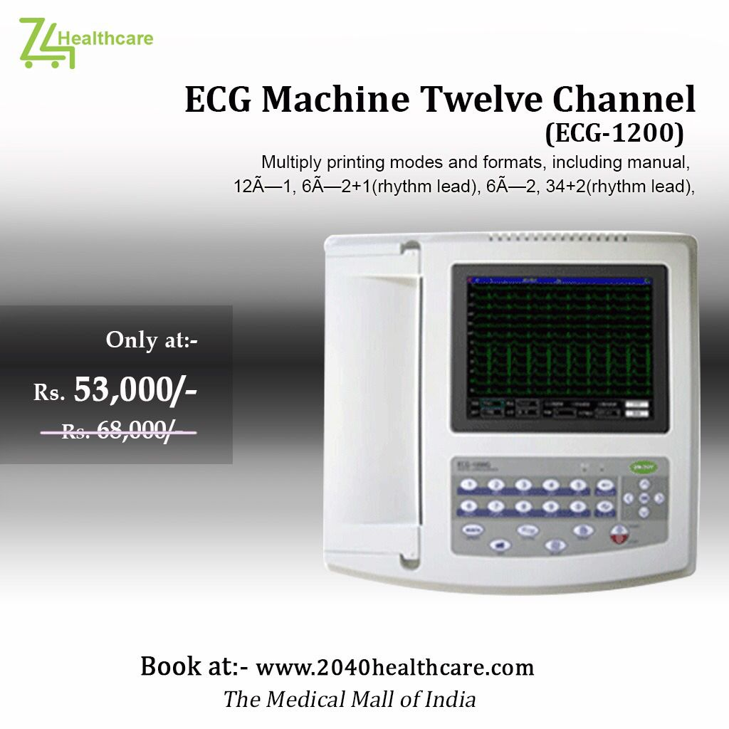12 Channel Ecg Machine Health Care Medical Medical Equipment
