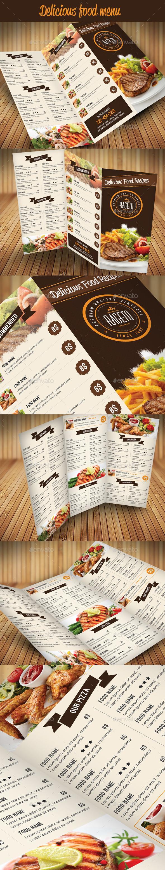 Food Menu 2 | Folletos, Cartas de menú y Diseño de menu