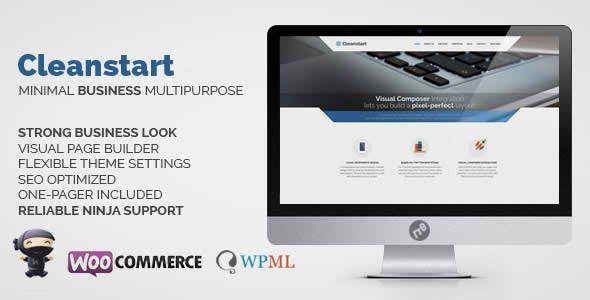 CLEANSTART v1.3.1 - Clean Multipurpose Business Theme | gfxforest ...