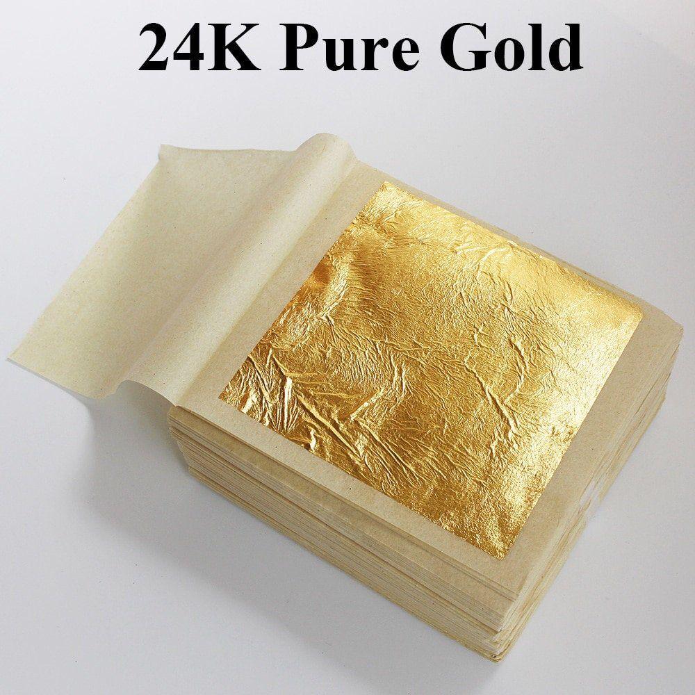 Edible gold leaf 24k gold leaf sheets edible gold foil