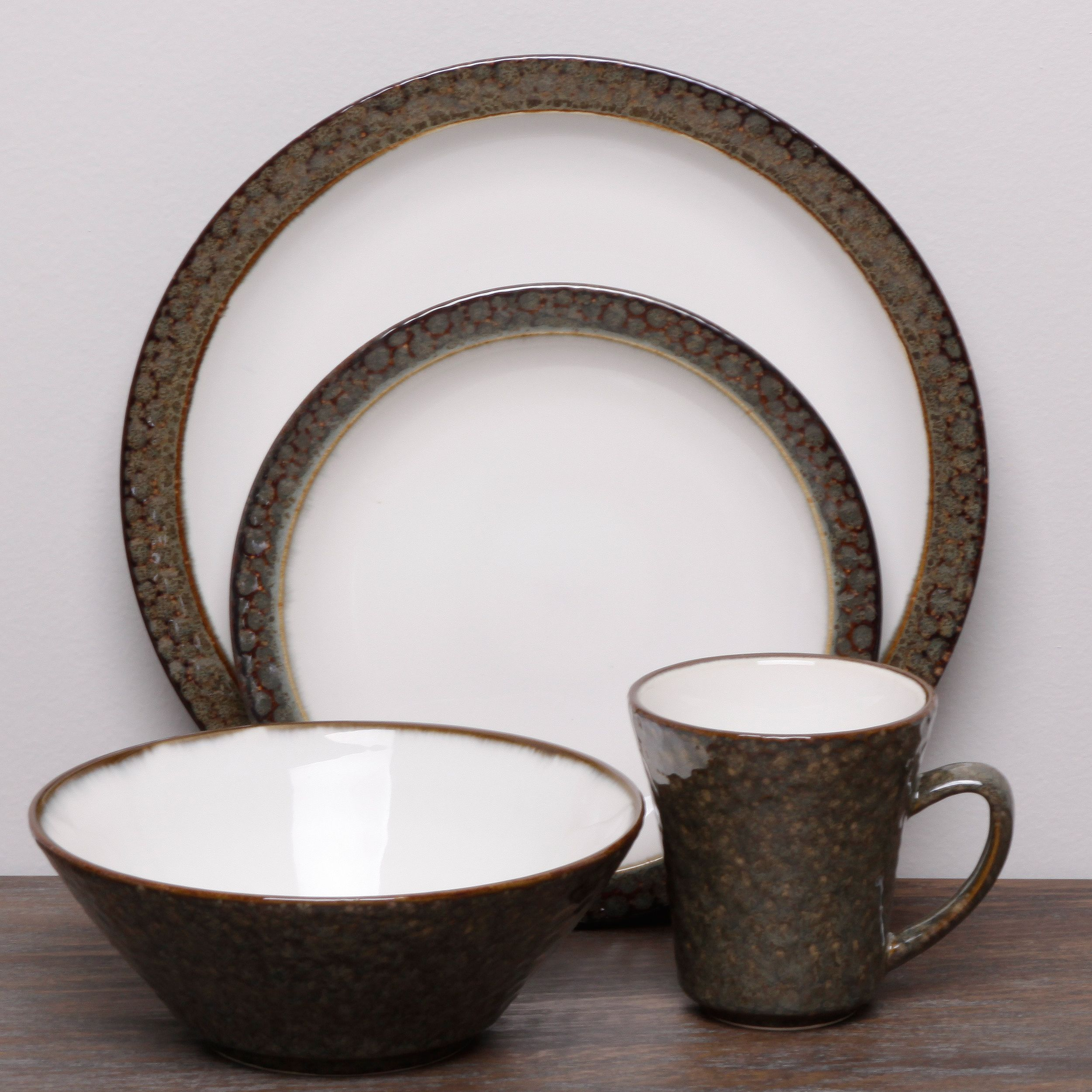 2 sets please! This stoneware dinnerware set from Sango is the perfect way to enliven & 2 sets please! This stoneware dinnerware set from Sango is the ...