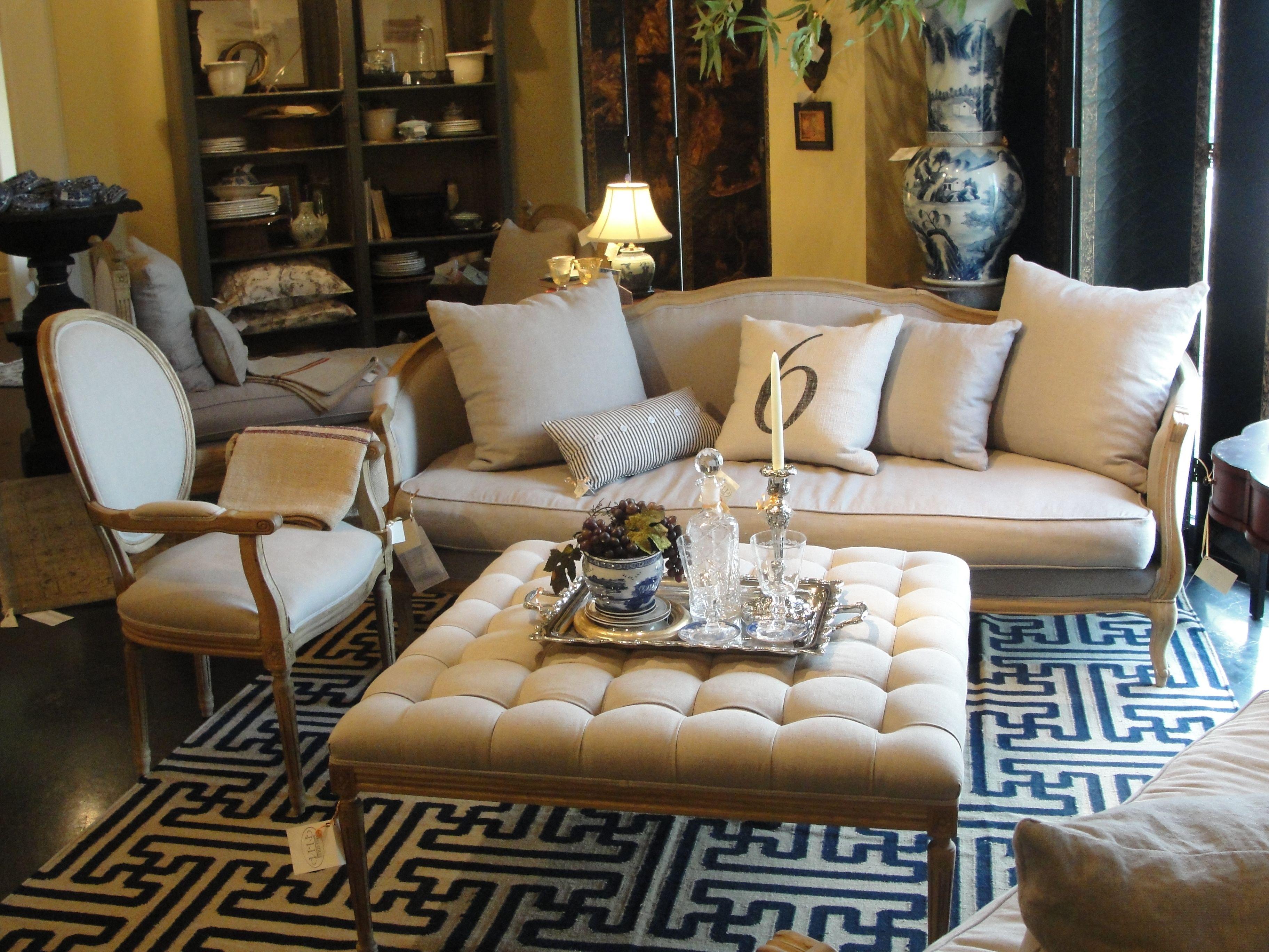 Ottoman Coffee Table Ideas.Ottoman Coffee Table Luxurious Living Room Furniture Cream Velvet