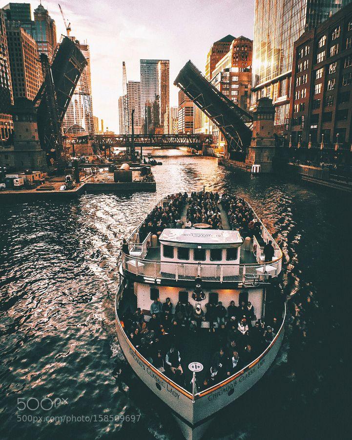 Chicago River by NealKumar. @go4fotos