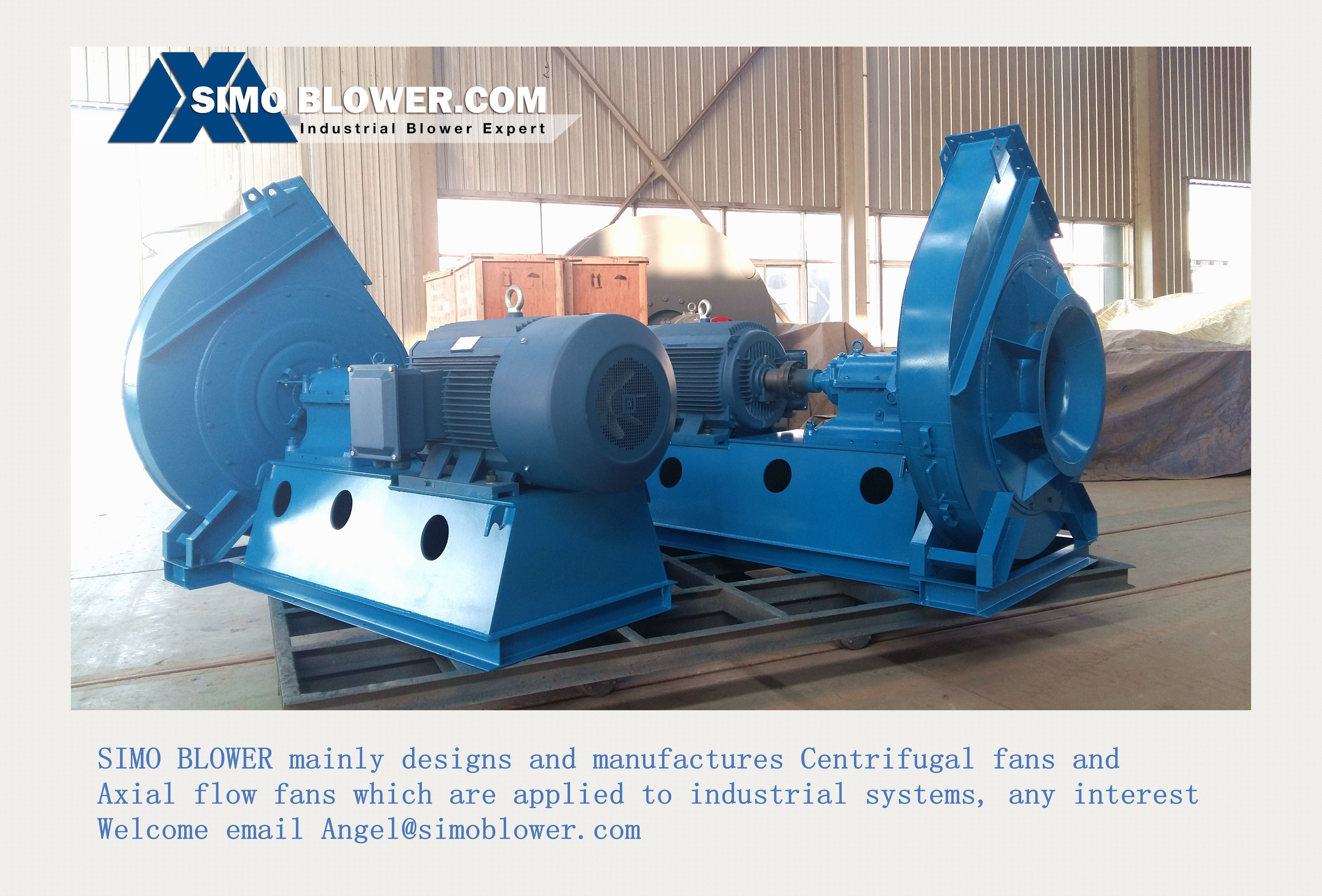 Industrial centrifugal blower fan used for industrial systems, such ...