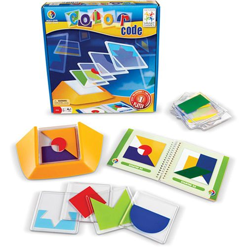 Color Code Logic Game Delivers A Colorful Burst Of Brain Challenging Fun Stack The Transparent Tiles In The Tile Holder To Rec Coding Logic Games Color Coding