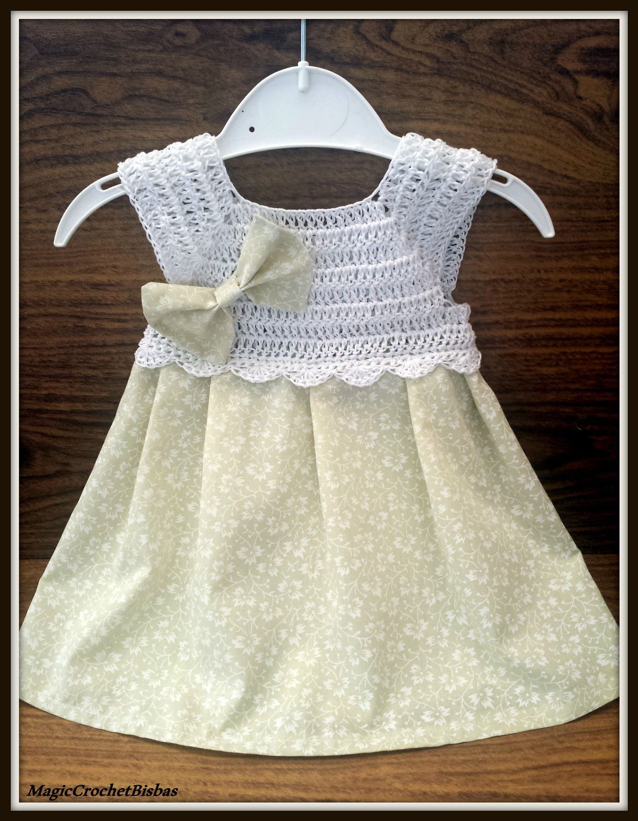 Handmade Crochet 0 3M Baby Girl Dress Photo Prop Baby