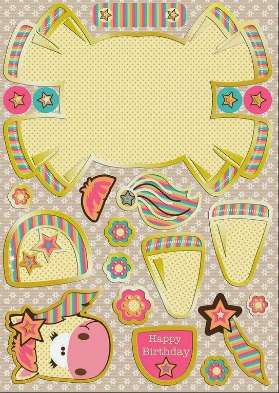 Unicorn: Cute Free Printable Paper Toy  | Birthday-Unicorn