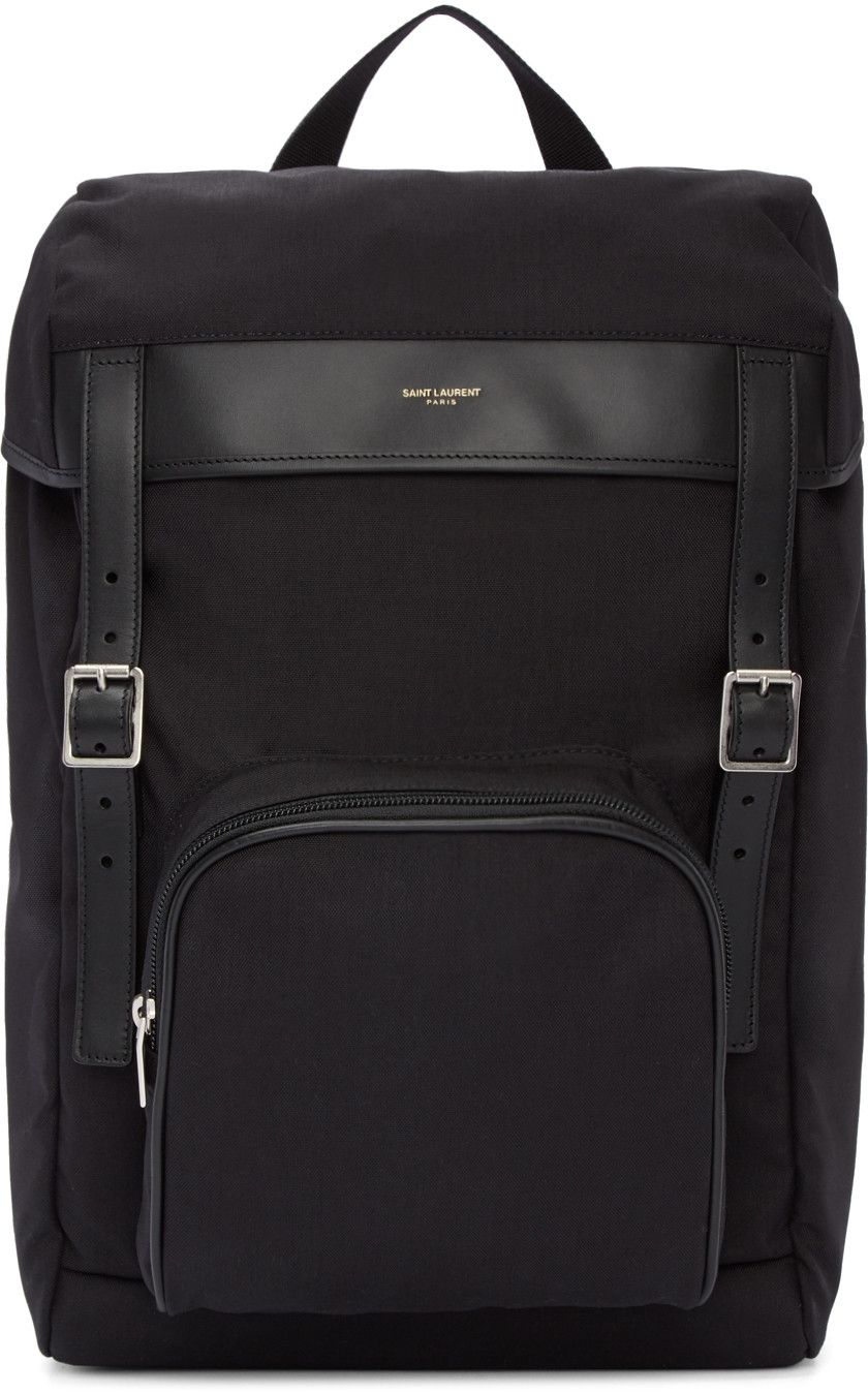 3139f974f378 Saint Laurent - Black Canvas Hunting Rucksack