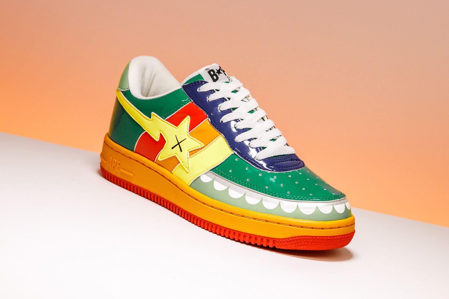 "Bape x Kaws ""Rainbow 6"" 2006FS029 Bape, Sneakers, Shoes"