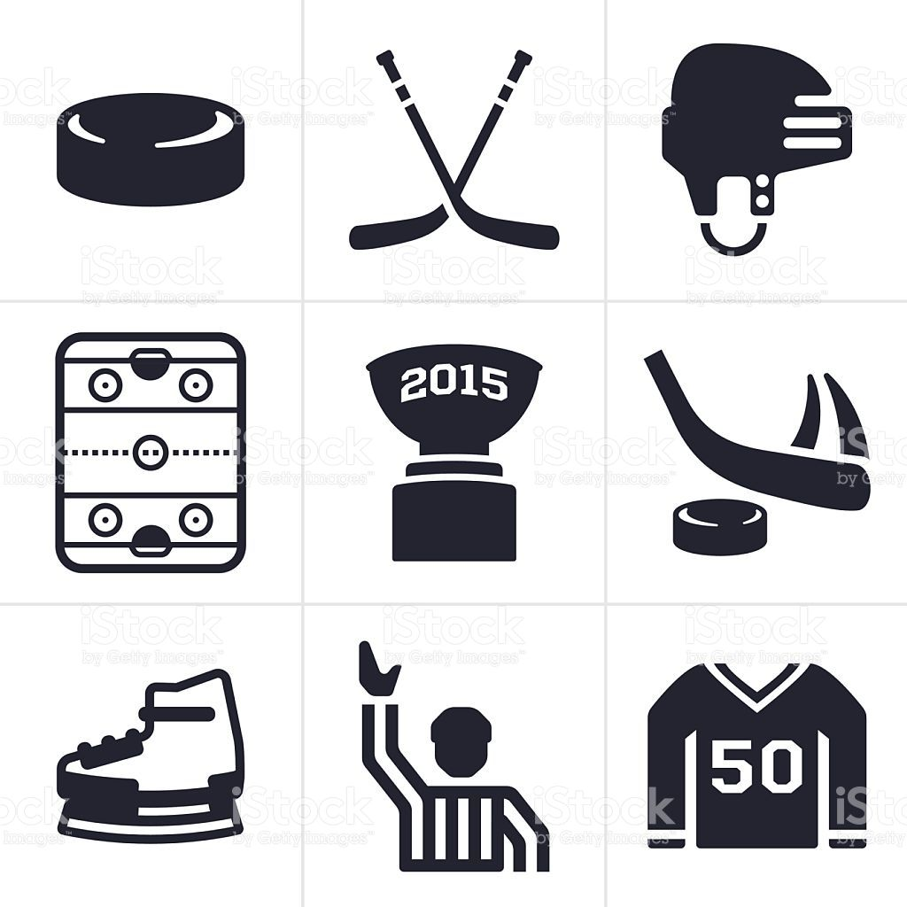 Hockey symbols and icons hockey and symbols hockey icons and symbols royalty free stock vector art biocorpaavc Gallery
