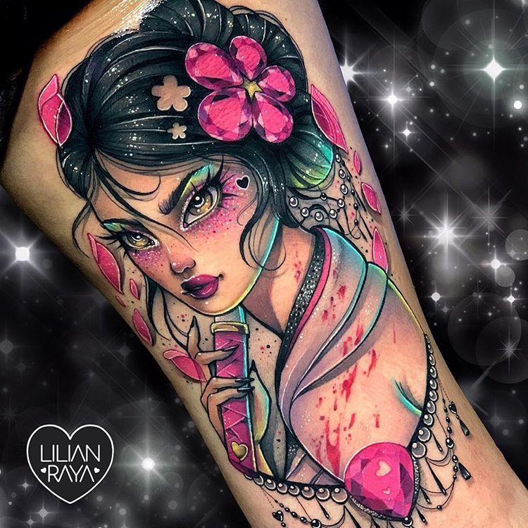 Lilian Raya On Instagram Silly Caucasian Girl Likes To Play With Samurai Swords O Ren Ishii Aka Cott Girly Tattoos Beautiful Tattoos Body Art Tattoos